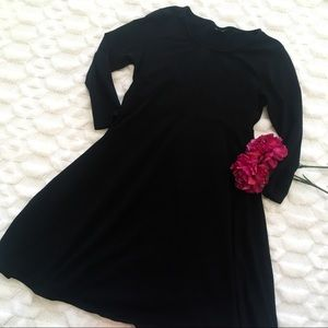 Topshop Maternity Long Sleeve Fit N Flare Dress